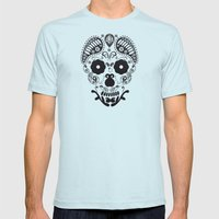 Skull Decorative  Mens Fitted Tee Light Blue SMALL