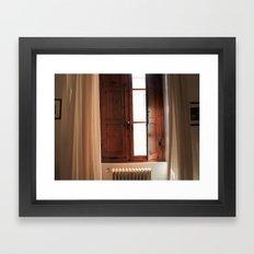 Italian Window Framed Art Print