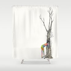 anyone there? Shower Curtain