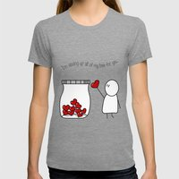I'm Saving Up All My Lov… Womens Fitted Tee Tri-Grey SMALL