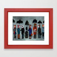 In The Rain Framed Art Print