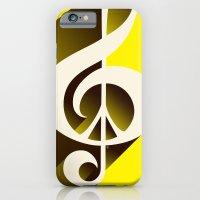 Yellow Retro Shadow Musi… iPhone 6 Slim Case