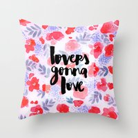 Lovers [Collaboration Wi… Throw Pillow