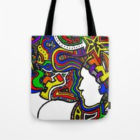 Rainbow Techno Tote Bag
