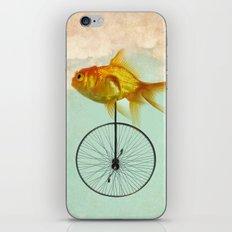 unicycle goldfish iPhone & iPod Skin