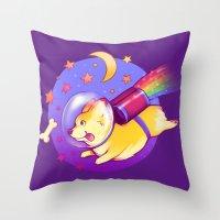 See You Space Corgi Throw Pillow