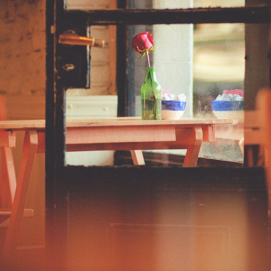 The table by the window Art Print