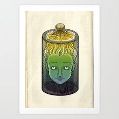 Sophronia , the talking head Art Print