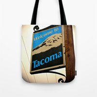 Welcome to Tacoma Tote Bag