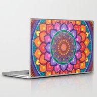 Lotus Rainbow Mandala Laptop & iPad Skin