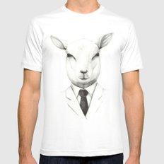 Lamb SMALL White Mens Fitted Tee