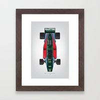 Outline Series N.º2, Mario Andretti, Lotus 80-Ford 1980 Framed Art Print