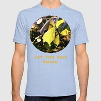 Let The Sun Shine Mens Fitted Tee Tri-Blue SMALL