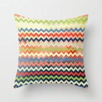 Watercolor Chevron Throw Pillow