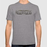 Be Relentless Mens Fitted Tee Athletic Grey SMALL