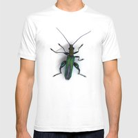 Thick Legged Flower Beetle - Oedemera Nobilis Mens Fitted Tee White SMALL
