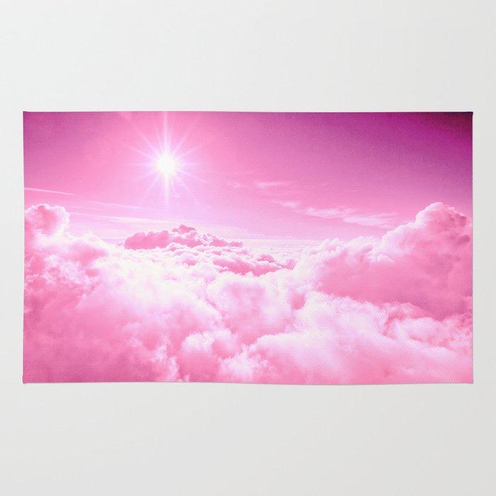 Soft Pink Clouds Rug By 2sweet4words Designs