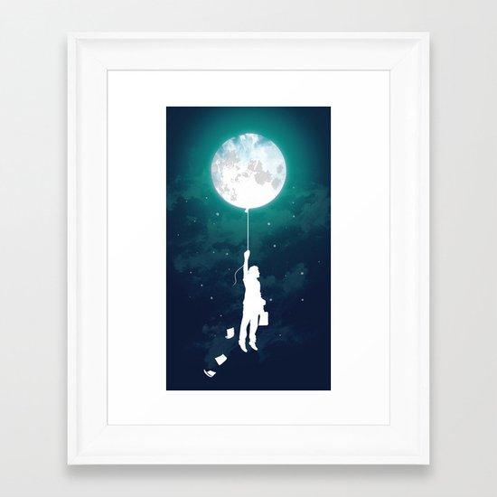 Burn the midnight oil  Framed Art Print
