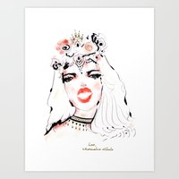 Kissnote Art Print