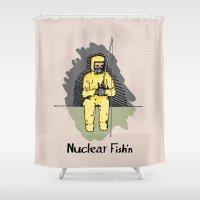 Nuclear Fish'n Shower Curtain
