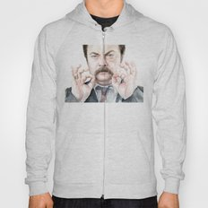Swanson Mustache Hoody