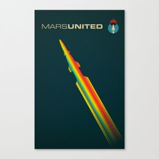 MarsUnited Rainbow Rocket Canvas Print
