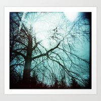 Winter Tree Holga Art Print
