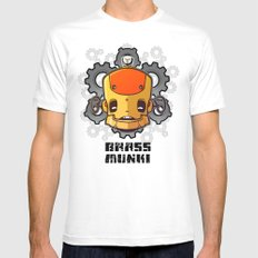 Brass Munki - Bot015 White Mens Fitted Tee SMALL
