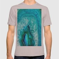 Geode Mens Fitted Tee Cinder SMALL