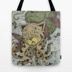 Mr Octopus & The One That Got Away Tote Bag