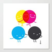 YM love CK hate Canvas Print