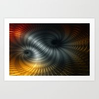 Metallic Spin Art Print