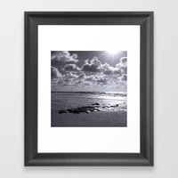 Sylt Mono - Stones Framed Art Print