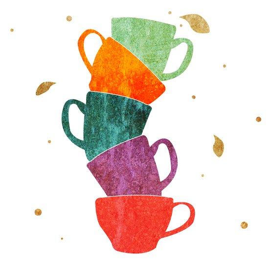 Teacup Madness 3 Art Print