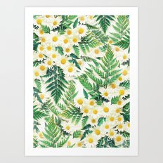 Textured Vintage Daisy A… Art Print