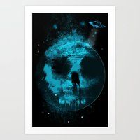 Once In A Blue Moon Art Print