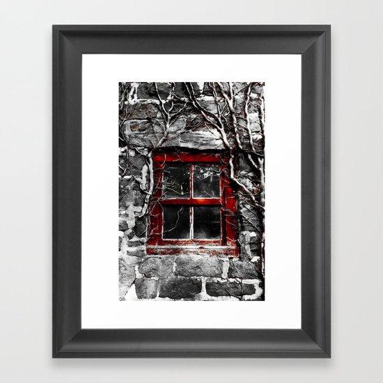 Kitchen Window Uptown Coffee Festival 2016: Barn Window Framed Art Print By Christopher Watson