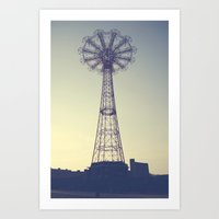 Coney Island Carnival Ride Art Print