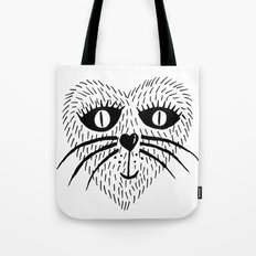 Kitty Love - Heart cat Tote Bag