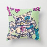 Helplessness Demon Throw Pillow