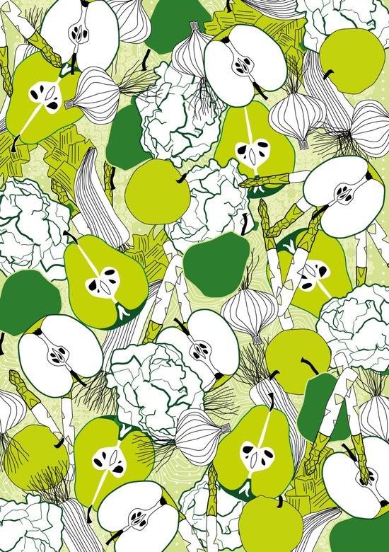 Vegetable pattern Canvas Print