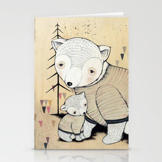 Mama Bear, Baby Bear Stationery Card