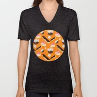 sweet things (on orange) Unisex V-Neck