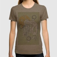 Burnt Wood Womens Fitted Tee Tri-Coffee SMALL