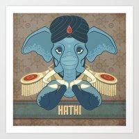 Hathi Art Print