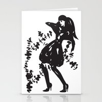 Humans & Nature | Fashion illustration | Black & White Stationery Cards