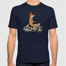Wild Raider Mens Fitted Tee Navy SMALL