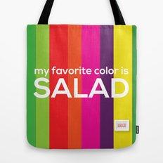 My favorite color is salad Tote Bag