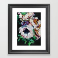 Blurred Vision Series - Ranunculus Bouqet No. 1 Framed Art Print