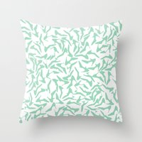 Shoes mint Throw Pillow